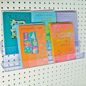 "Azar Displays 556086, 2-Tier Greeting Card HLR, 16""W x 4.5""H x 2""D, 1-Pack"