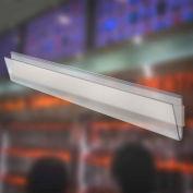 """Azar Displays 600044, U-Channel, 1.25""""H x 72""""L, CLR, 10 Pc"""