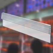 "Azar Displays 600049, Y-Strip Sign HLR W/Grips, 2""H x 72""L, CLR, 10-Pack"