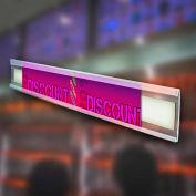 "Azar Displays 600053, C-Channel, 1.25""H x 72""L, CLR, 10 Pc"