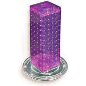 "Azar Displays 700220-PUR 12"" Pegboard Revolving Countertop Display, 4-Sided, Purple ,1 Piece"