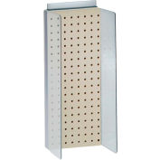 "Azar Displays 700359-ALM, Pegboard Powerwing Display, 8""W x 20.625""H, Almond, 1 Pc"