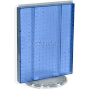 "Azar Displays 700500-BLU Pegboard Countertop Display, 16"" x 20"", Blue Opaque ,1 Piece"