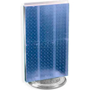 "Azar Displays 700513-BLU Two-Sided Revolving Pegboard Countertop Display, 13.5"" x 22"", Blue"