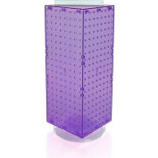 "Azar Displays 703385-PUR Interlocking Pegboard Countertop Display, 8"" x 20"", Purple ,1 Piece"