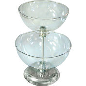 "Azar Displays 720204, Two-Tier Countertop Bowl Display, 12""W x 12""D x 16""H"