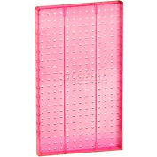 "Azar Displays 771322-PNK Pegboard Wall Panel, 13.5"" x 22"", Pink Opaque"