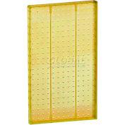 "Azar Displays 771322-YEL Pegboard Wall Panel, 13.5"" x 22"", Yellow Opaque"