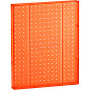 "Azar Displays 771620-ORG Pegboard Wall Panel, 16"" x 20"", Orange Opaque"