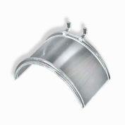 """Azar Displays 800026 Acrylic Necklace Half Round Bar For Pegboard/Slatwall-Clear-5.25"""" W-Pkg Qty 4"""