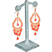 "Azar Displays 900405, Earring Tree Stand, 5""H, CLR - Pkg Qty 10"