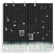 Azar Displays 900945-BLK Pegboard Room Organizer Kit, Hardware Included, Black Opaque ,1 Piece