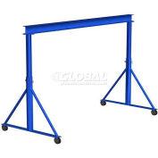 Gorbel® Adjustable Height Steel Gantry Crane, 20'W x 7'-10'H, 10,000 Lb. Capacity
