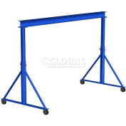 Gorbel® Adjustable Height Steel Gantry Crane, 10'W x 7'-10'H, 2000 Lb. Capacity