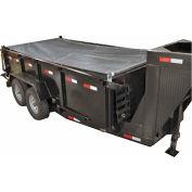 Buyers Aluminum Tarp System with Mesh Tarp, 5 Ft. x 14 Ft. - DTR5014
