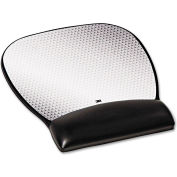 3M™ MW310LE Precise™ Mouse Pad with Gel Wrist Rest, Black