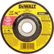 """DeWalt DW4514 Metal Grinding Wheel Type 27 4-1/2"""" DIA. 24 Grit Aluminum Oxide - Pkg Qty 25"""