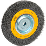 "DeWALT® HighPerformance™ Bench Grinder Brush, DW4907, 8"" Diameter, 5/8"" Arbor, 4000 RPM"