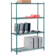 "Nexel® Poly-Green® Wire Shelving Starter, 48""W x 18""D x 74""H"