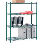 "Nexel® Poly-Green® Wire Shelving Starter, 48""W x 14""D x 54""H"