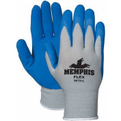 MCR Safety 96731M Memphis Flex Seamless 13 Gauge Nylon Knit Gloves, Medium, Blue/Gray, 1 Pair