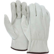 Memphis 3215M Economy Leather Driver Gloves, Medium, Beige