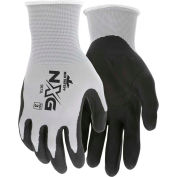 MCR Safety 9673L Memphis Foam Nitrile Gloves, Large, 13 Gauge, Gray/Black, Dozen