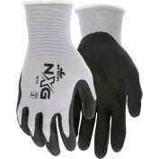 Memphis™ 9673M Nitrile Dipped Foam Gloves, Medium, Gray/Black, 13 Gauge, 1-Pair - Pkg Qty 12