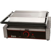 "Winco EPG-1 Electric Panini Grill, Ribbed Plates, 14"", 1 Set"
