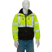 Tingley® J26112 Bomber II Hooded Jacket, Fluorescent Yellow/Green/Black, Medium