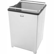 Rubbermaid® 14 Gallon Stainless Steel Open Top Receptacle, FGB1414SSRB