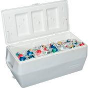 "Rubbermaid FG2B8001TRWHT - Marine Cooler, 150 Qt. White, Polypropylene, 19""D x 45""W x 20-1/2""H"