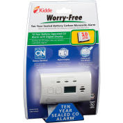 Kidde C3010D Worry-Free CO Alarm with Digital Display, 10-Year Sealed Lithium Battery Operated