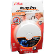 Kidde P3010L Worry-Free Smoke Alarm, Living Area, 10-Year Sealed Lithium Battery Operated
