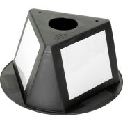 Inventory Cone Black 3-Sided with Dry Erase Decal