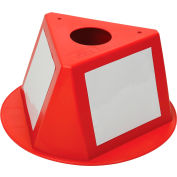 Inventory Cone Red 3-Sided with Dry Erase Decal