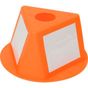 Inventory Cone Orange 3-Sided with Dry Erase Decal