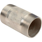 2 In. X 4 In. 304 Stainless Steel Pipe Nipple - 16168 PSI - Sch. 40 - Domestic