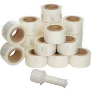 """Banding Stretch Wrap, Cast, 150 Gauge, 3""""Wx600'L, Clear - Pkg Qty 18"""