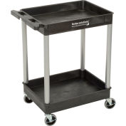 Relius Solutions®  Tray-Shelf Carts With Nickel Legs - 2 Shelves - Tub Top
