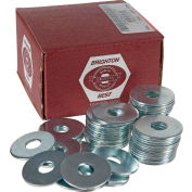 "Fender Washer - 3/8"" x 1-1/4"" - Steel - Zinc CR+3 - Pkg of 100 - BBI P36200"