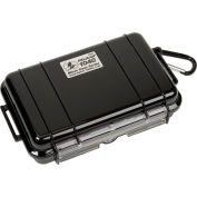 "Pelican 1040 Watertight Micro Case With Liner 7-1/2"" x 5-1/16"" x 2-1/8"", Black"