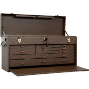 """Kennedy® 526B Signature Series 26-3/4""""W X 8-1/2""""D X 13-5/8""""H 8 Drawer Brown Machinists Chest"""