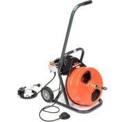 """General Wire MRP-B Mini-Rooter Pro Drain/Sewer Cleaning Machine W/ 75' x 3/8""""Cable & 4 Pc Cutter Set"""