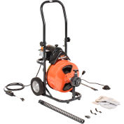 """General Wire P-XP-D Mini-Rooter XP Drain/Sewer Cleaning Machine W/ 75' x 1/2""""Cable & 4 Pc Cutter Set"""
