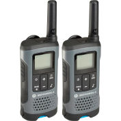 Motorola Talkabout® T200 Rechargeable Two-Way Radios,Gray - 2 Pack