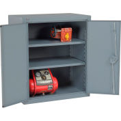 """Global Industrial™ 12 Gauge Heavy Duty 48"""" W x 24"""" D x 42"""" H Counter High Cabinet, Gray"""