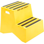 "2 Step Plastic Step Stand - Yellow 21""W x 24-1/2""D x 19-1/2""H - ST-2 YEL"