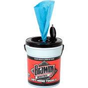 GP Brawny Industrial Blue Wet Hand Towels, 84 Towels/Pail, 6 Pails/Case