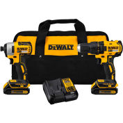 DeWALT DCK277C2 20V MAX Compact Brushless Drill/Driver Impact Combo Kit (2)1.5Ah Batteries & Charger